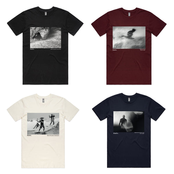 'Static. By Respondek' -  The Entire series of four T-shirts - Shipping Australia and USA Only.