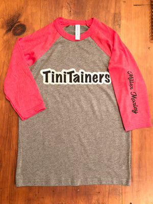 TiniTainer Bella Canvas Baseball T-Shirt