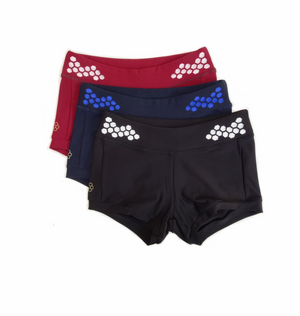 Laser Cut Shorts  by Honeycut