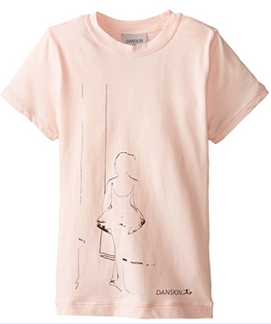Danskin Little Girls' Ballerina Graphic Tee