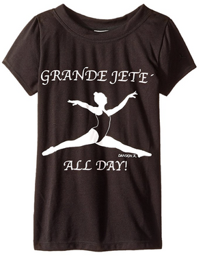Danskin Little Girls' Jete Graphic Dance Tee