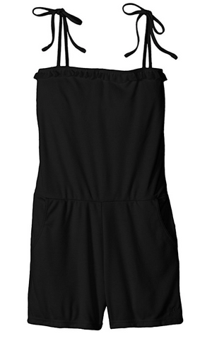 Danskin Little Girls' Knit Warm Up Romper with Adjustable Straps
