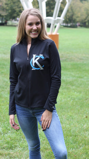 """ KC Logo"" Champion - Women's Colorblocked Performance Full-Zip Sweatshirt"