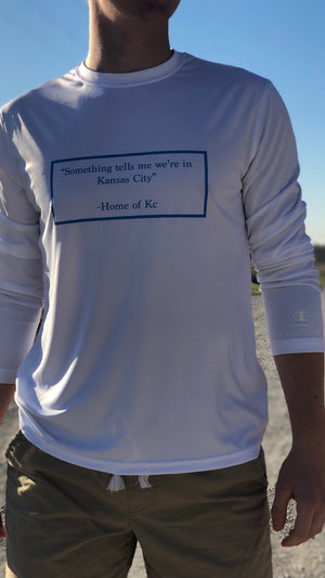 """H/O KC Quote"" - Champion - Double Dry Performance Long Sleeve T-Shirt"