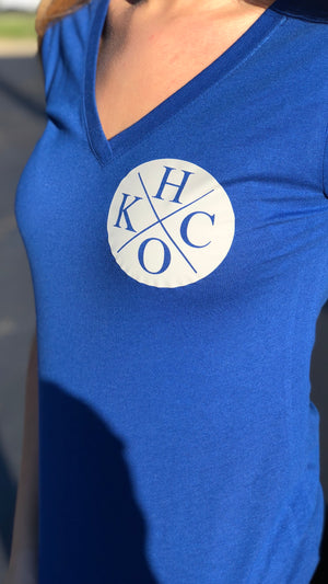 """Circle H/O KC"" - Next Level - Women's Triblend Deep V"