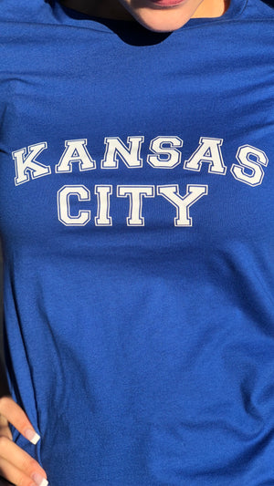 """Kansas City"" - Next Level - Women's The Boyfriend Tee"