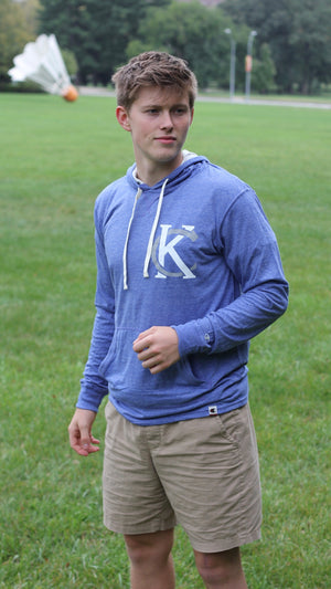 """KC Logo"" Champion - Unisex Originals Triblend Hooded Pullover"