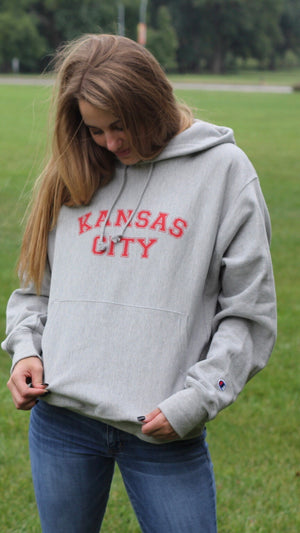 """ Kansas City"" Champion - Unisex Reverse Weave Hooded Sweatshirt"