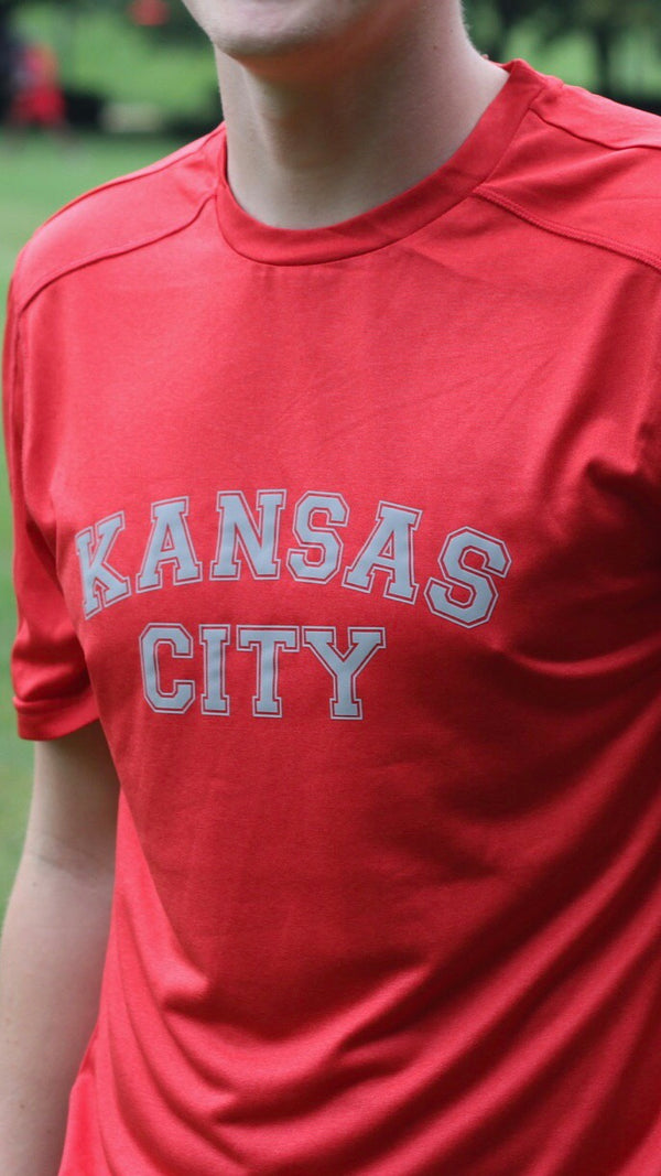 """Kansas City"" Champion - Unisex Vapor Performance Heather T-Shirt"