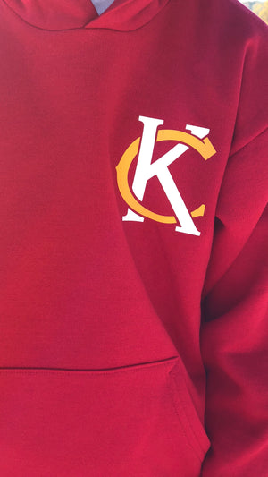 """KC Logo"" - Ecosmart Youth Hooded Sweatshirt"