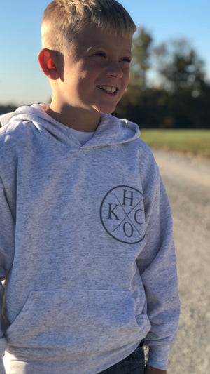 """H/O KC Circle"" - Ecosmart Youth Hooded Sweatshirt"