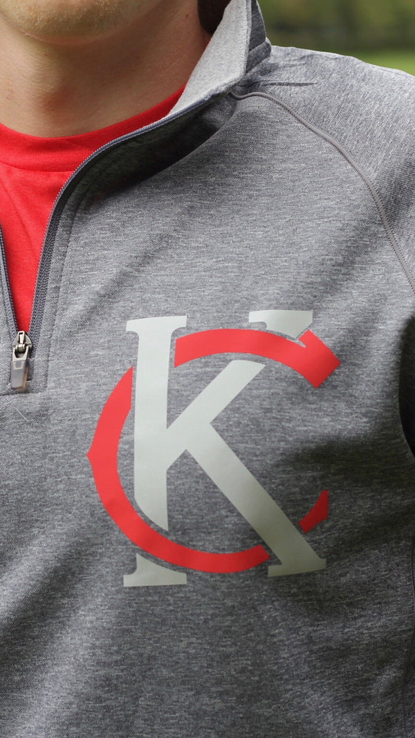 """KC Logo"" Champion - Unisex Colorblocked Performance Quarter-Zip Sweatshirt"