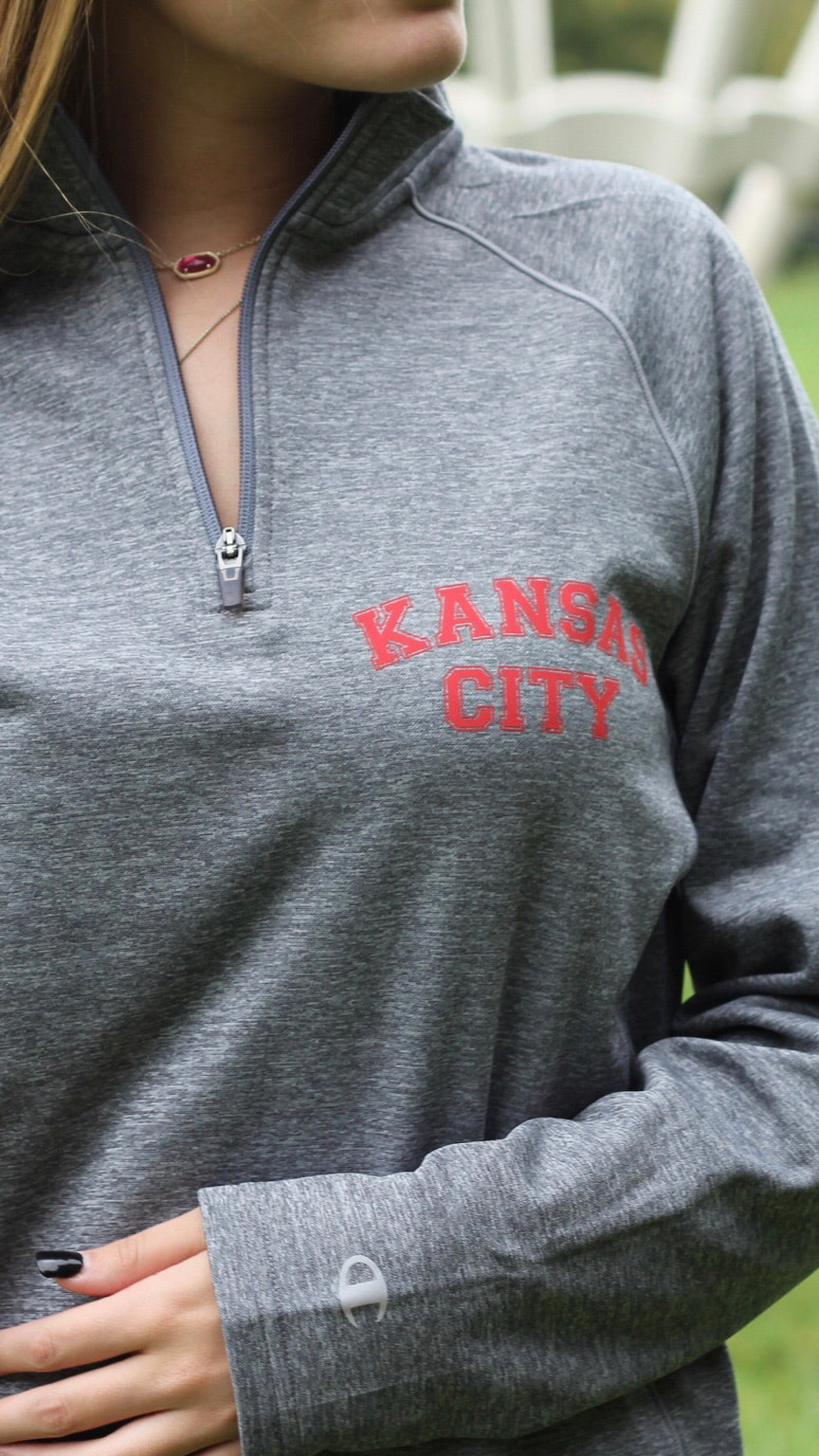 """Kansas City"" Champion -Unisex Color blocked Performance Quarter-Zip Sweatshirt"