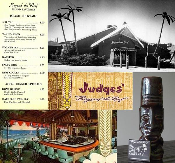 Set 4 - Four Tiki Bar Coasters