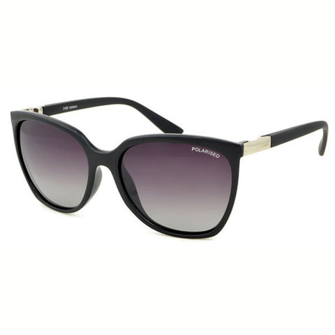 Locello Adriana Sunglasses - Black Frame, Graduated Smoke Lens 1