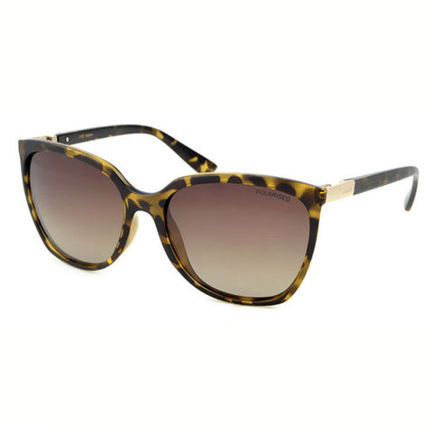 Locello Adriana Sunglasses - Tortoiseshell Frame, Graduated Brown Lens 1