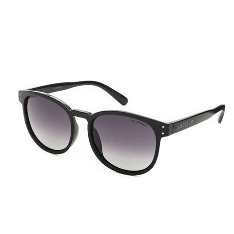 Locello Eva Sunglasses - Crystal Smoke Black Frame, Graduated Smoke Lens