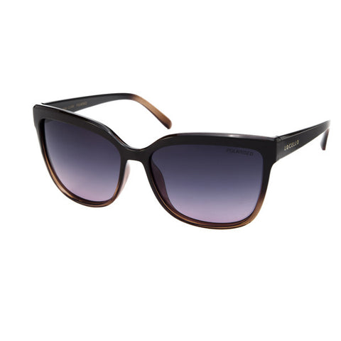 Locello Clara Sunglasses - Crystal Plum Gradient Frame, Smoke Plum Gradient Lens - 1