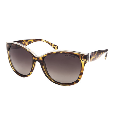 Locello Rosa Sunglasses - Tortoiseshell with Gold Detail Frame, Brown Gradient Lens - 1