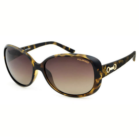 Locello Bianca Sunglasses - Tortoiseshell Frame, Graduated Brown Lens 1