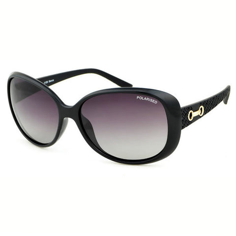Locello Bianca Sunglasses - Black Frame, Graduated Smoke Lens 1