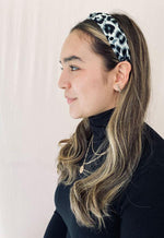 Kay Celine Accessories OS / Blue Blue Cheetah Print Headband