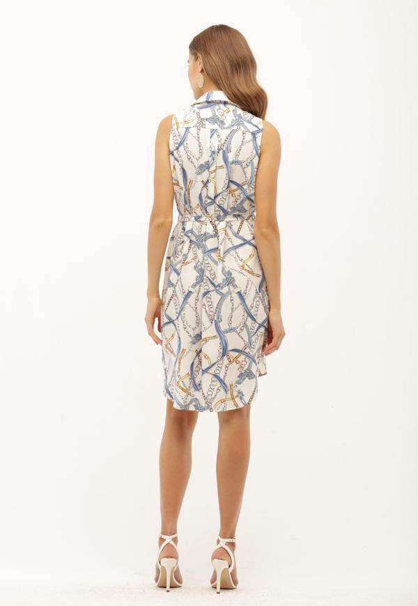 Kay Celine Dress Blue Chain Dress