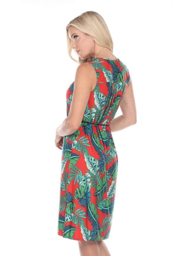 Kay Celine Dress Tropical Dress in Tropical Red