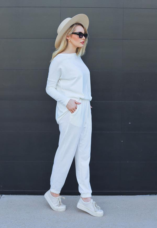 Kay Celine Pants Elise Joggers in Off White