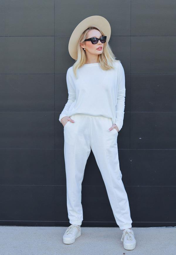 Kay Celine Pants XS / OffWht Elise Joggers in Off White