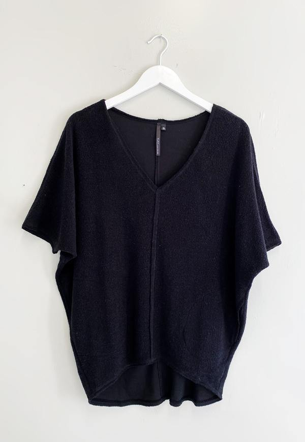 Kay Celine Sweater XS / Black Daphne Sherpa Tunic in Black