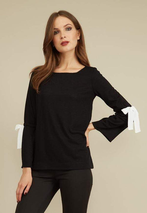 Kay Celine Sweater XS / Black-TK Shanon Textured Knit Top