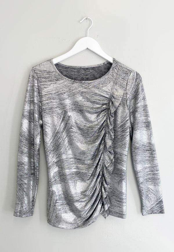 Kay Celine Sweater XS / Silver Christina Blouse in Silver