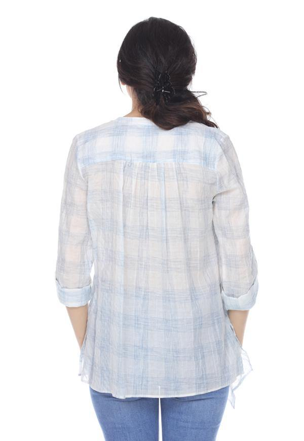 Kay Celine Top Checkered Top