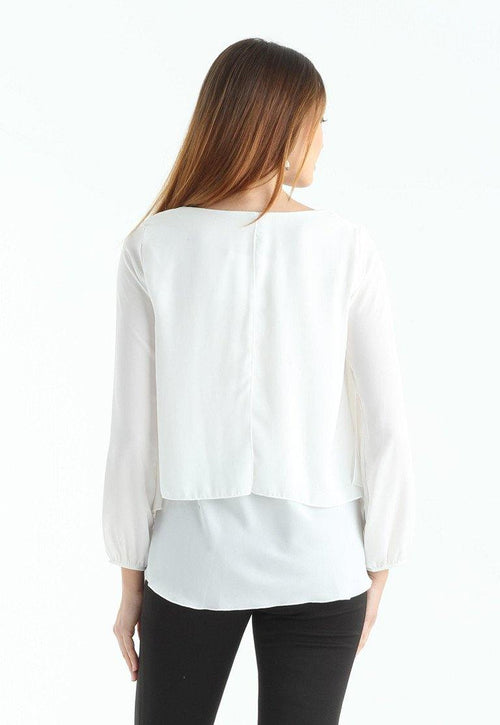 Kay Celine Top Darcy Blouse in Off White