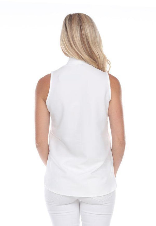 Kay Celine Top Dimensional Top in Off White