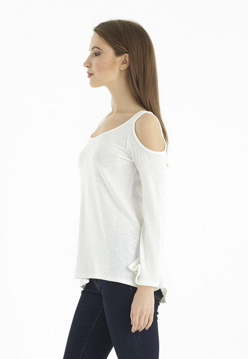 Kay Celine Top Eden Textured Knit Top in Off White