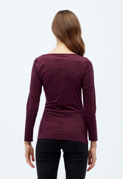 Kay Celine Top Gina Suede Top in Eggplant