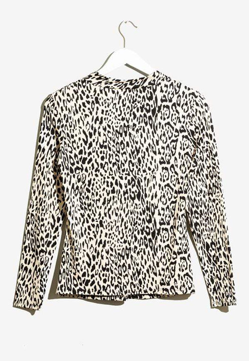 Kay Celine Top Nohea Twisted Knit in Cheetah