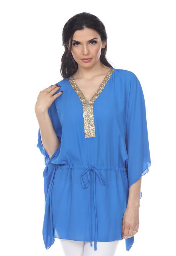 Kay Celine Top OS / Cobalt Beach Day Cover-Up Tunic