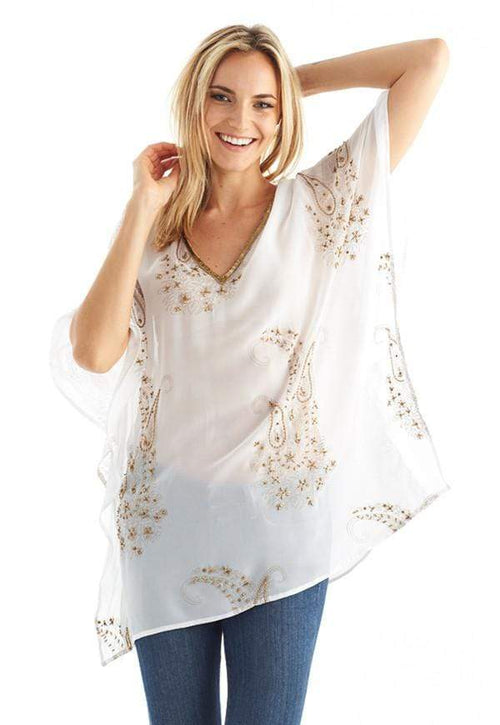 Kay Celine Top Paisley Dream Beaded Tunic