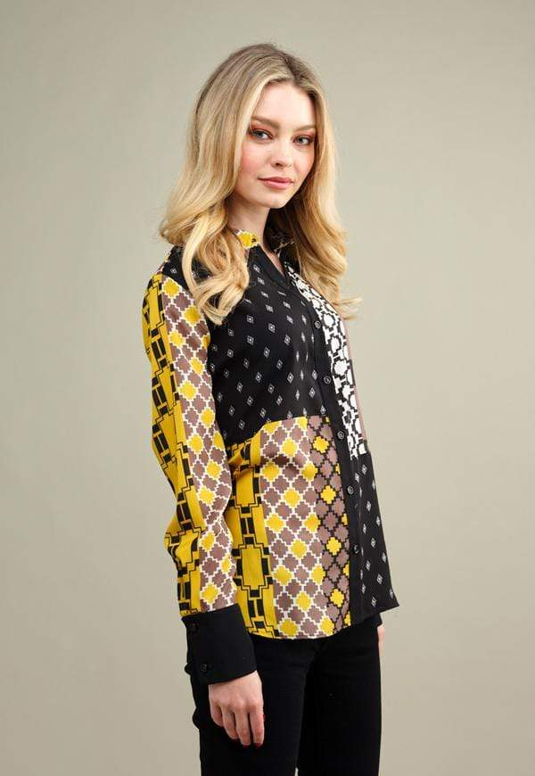 Kay Celine Top Patchwork Blouse in Multi