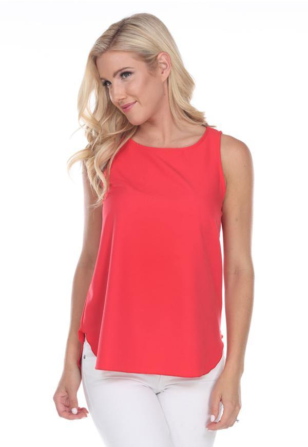 Kay Celine Top Perfectly Basic Tank in Coral