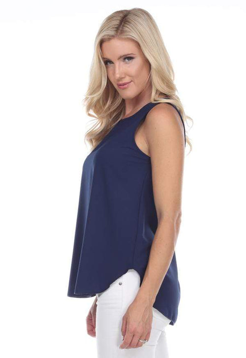 Kay Celine Top Perfectly Basic Tank in Navy