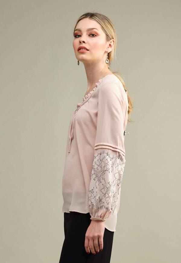 Kay Celine Top Pleasant Top in Soft Blush