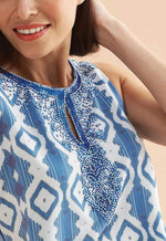 Kay Celine Top Reflections Tank in Blue
