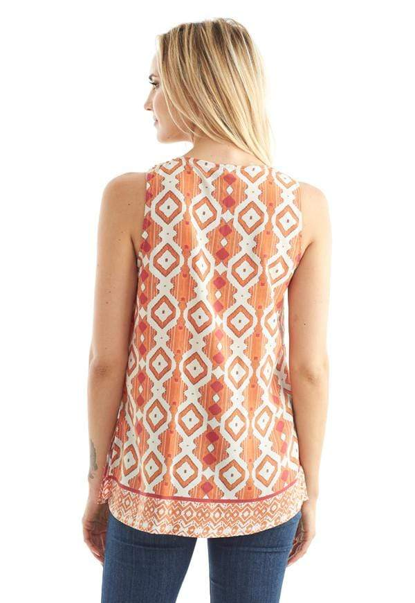 Kay Celine Top Reflections Tank in Orange