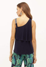 Kay Celine Top Right Moves Tank in Navy