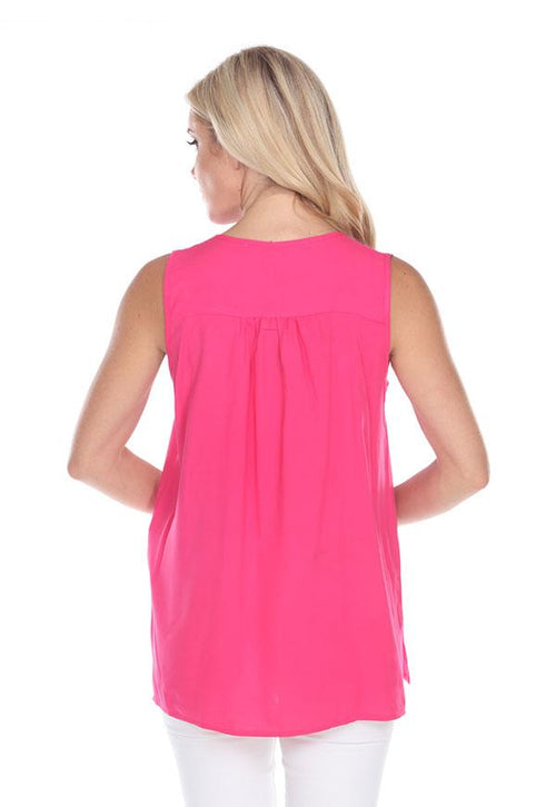 Kay Celine Top Royalty Blouse in Fuchsia