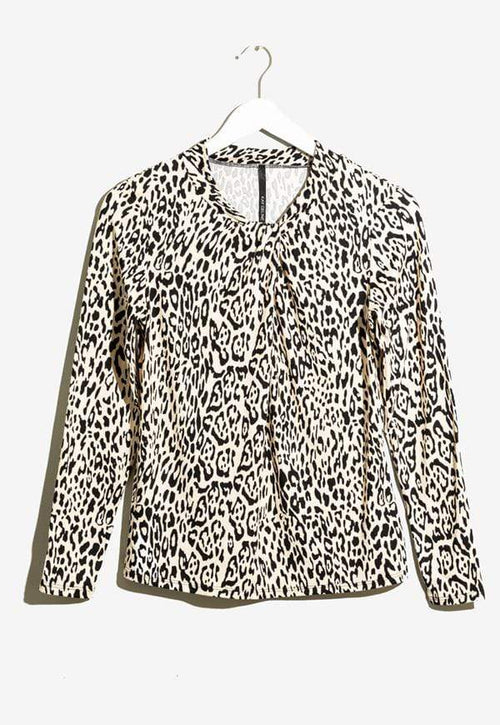 Kay Celine Top XS / BK006 Nohea Twisted Knit in Cheetah